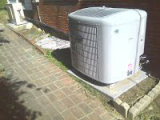 HVAC unit Outside House