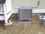 HVAC unit outside a house