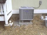 HVAC unit outside a house